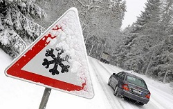 Зимний сезон на дорогах Москвы