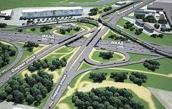 Новая эстакада на Мичуринском шоссе