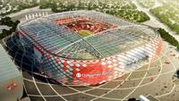 Строительство эстакады у Открытие арены